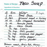 Recipe Box: My Mom's Taco Soup