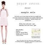 Shop It: Paper Crown Sample Sale