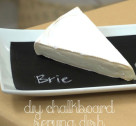 Crafty Creations: DIY Chalkboard Serving Dish