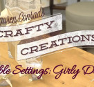 Crafty Creations: Ladylike Table Settings