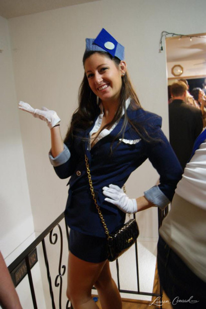 Halloween Diy Pan Am Air Stewardess Costume Lauren Conrad