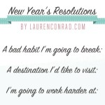 2014: My New Year's Resolutions