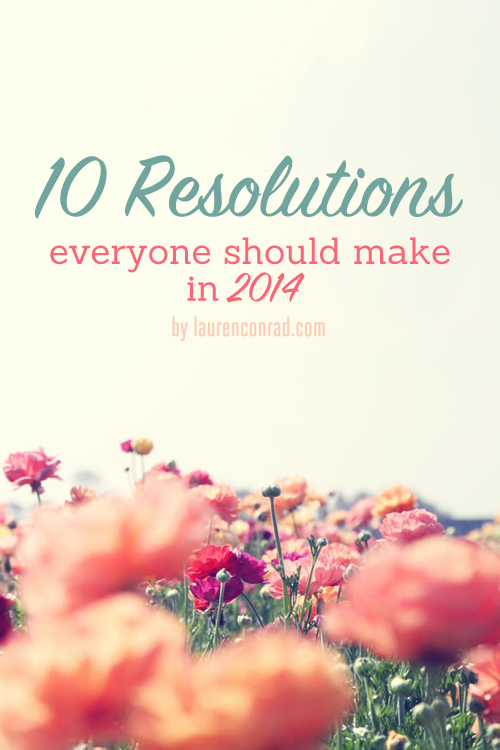New Year's Resolutions that everyone should make!