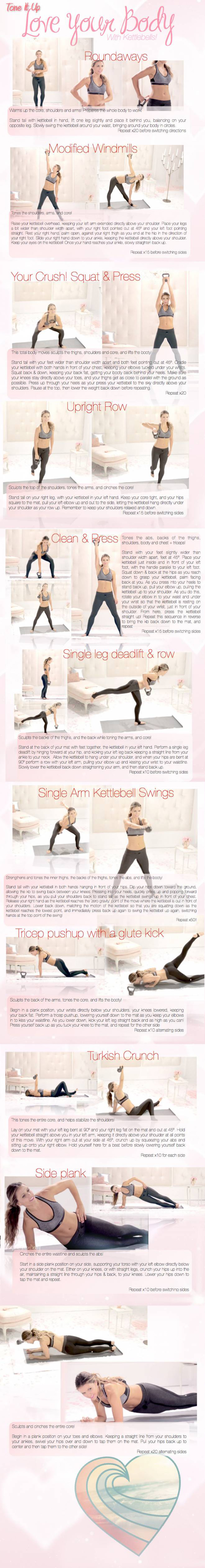 picture relating to Printable Kettlebell Workout known as Tone It Up: Delight in Your Entire body with Kettle Bells - Lauren Conrad