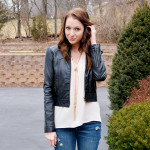 Chic of the Week: Jacy's Leather and Jeans Look
