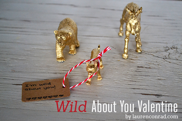 DIY Wild About You Valentine