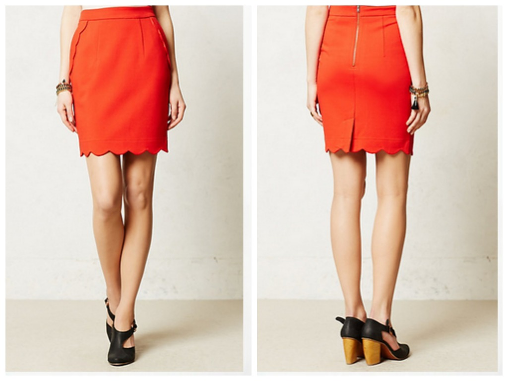 Scalloped Brink Pencil Skirt by Anthropologie