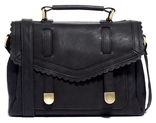Satchel Bag with Scalloped Flap by ASOS