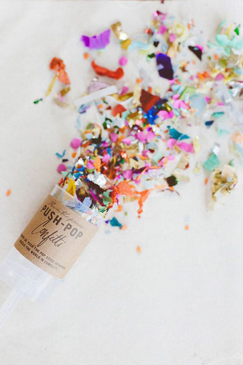 push pop confetti {perfect for a surprise party!}