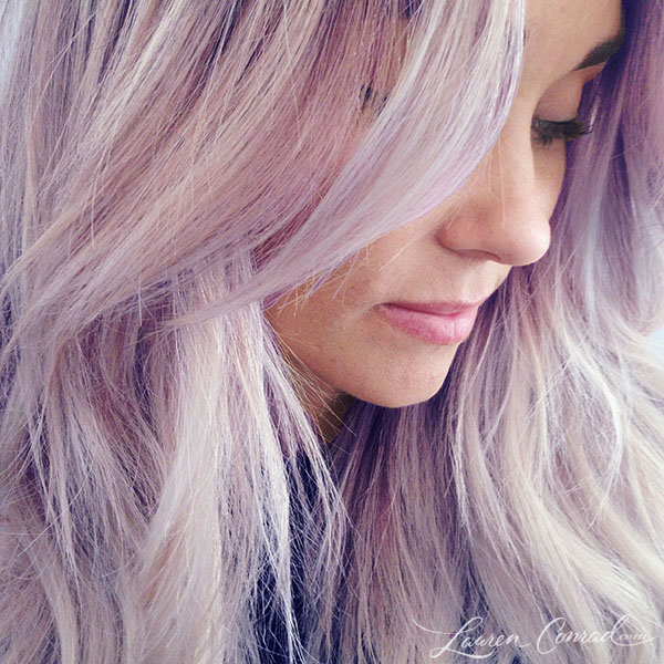 Lauren Conrad's pretty purple hair