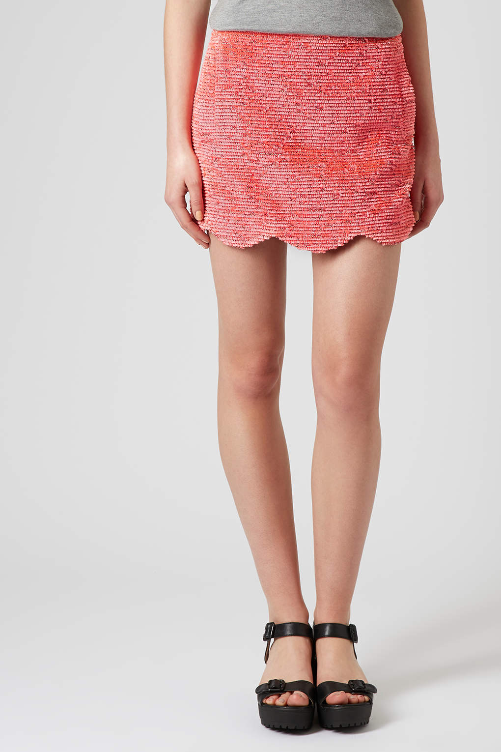 Fring Scallop Skirt by TopShop