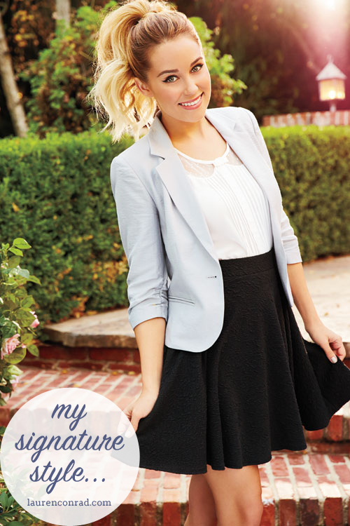 style files whats your signature style lauren conrad