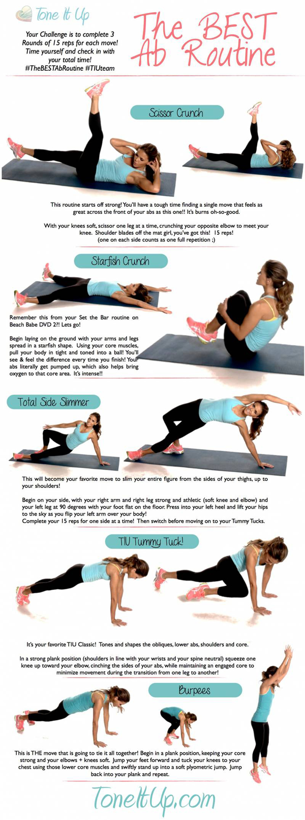 Tone It Up The Best Ab Workout Routine