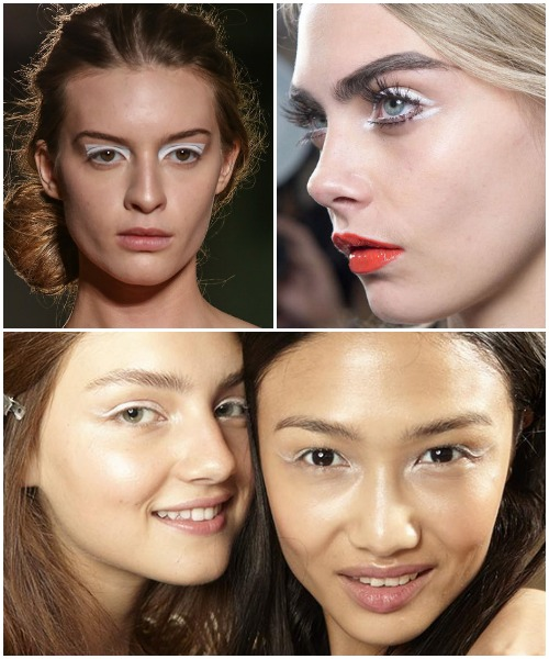 Spring 2014 Beauty - Bright White Eyelids
