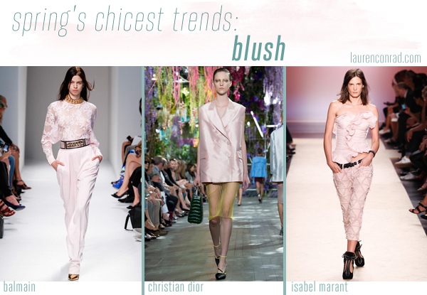 Style Files: A Guide to Spring's 5 Chicest Trends - Blush