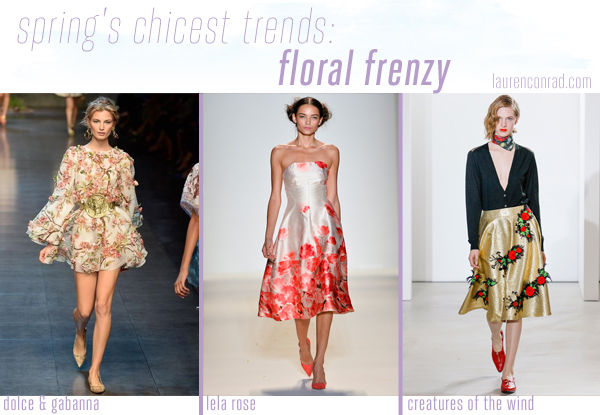 Style Files: A Guide to Spring's 5 Chicest Trends - Floral Frenzy