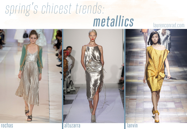 Style Files: A Guide to Spring's 5 Chicest Trends - Metallics