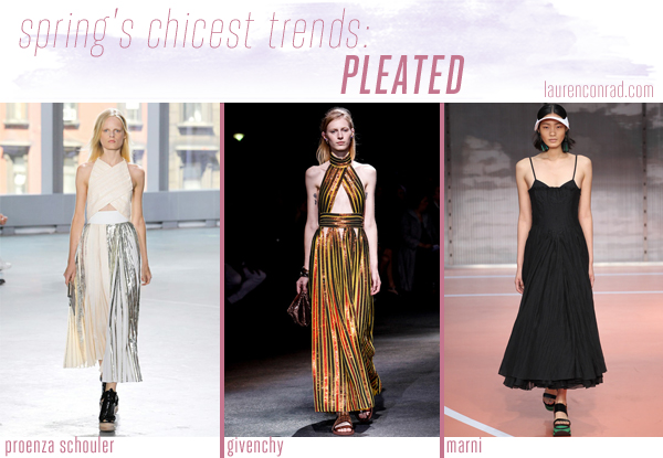 Style Files: A Guide to Spring's 5 Chicest Trends - Pleated