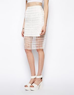 State of Being Organza Pencil Skirt, $127.94