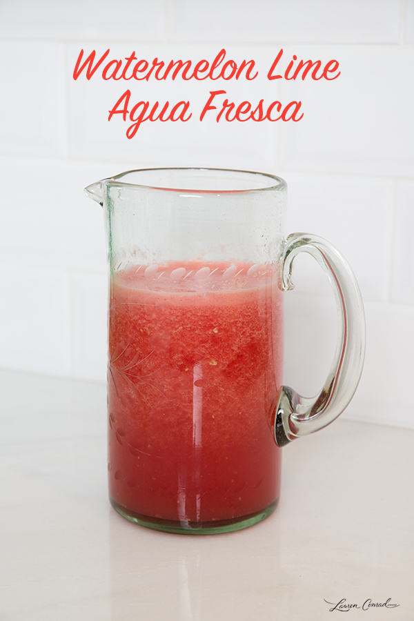 Lovely Libations: Homemade Horchata and Agua Fresca