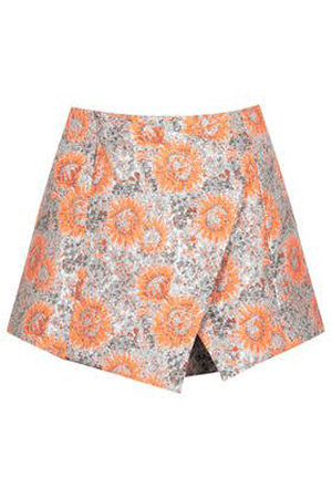 Topshop Metallic Sunflower Skort, $84.00
