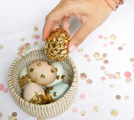 Inspired Idea: Sequin Easter Eggs