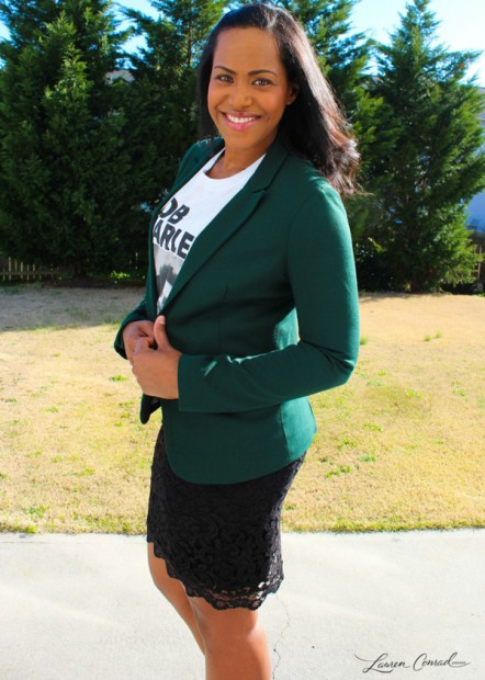 Chic of the Week: Kathleen is Glamorous in Green
