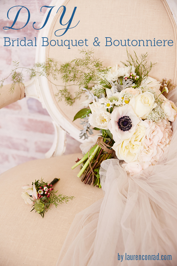 Wedding Bells: DIY Bridal Bouquet and Boutonnière