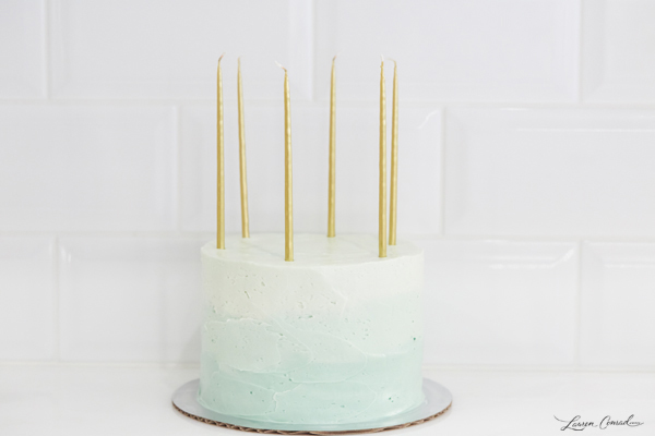 Frosted Mint Ombre Cake