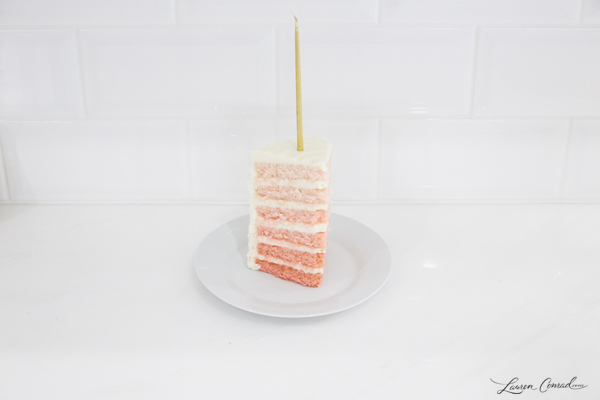 Pink Surprise Ombre Cake