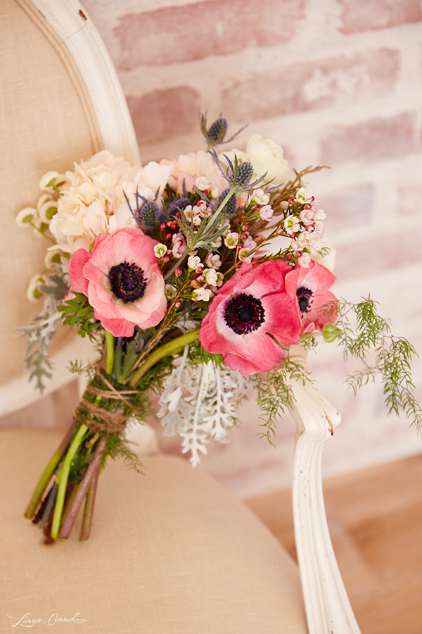 Wedding Bells: DIY Bridal Bouquet and Boutonnière - Lauren Conrad