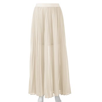 LC Lauren Conrad Chiffon Pleated Maxi Skirt, $43.99