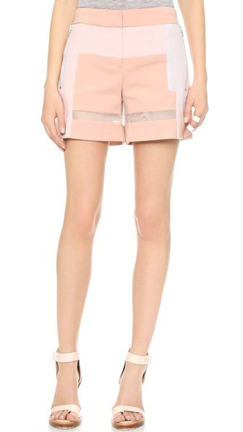 Rebecca Taylor Patchwork Shorts, $295