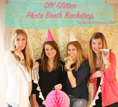DIY: Glitter Photo Backdrop