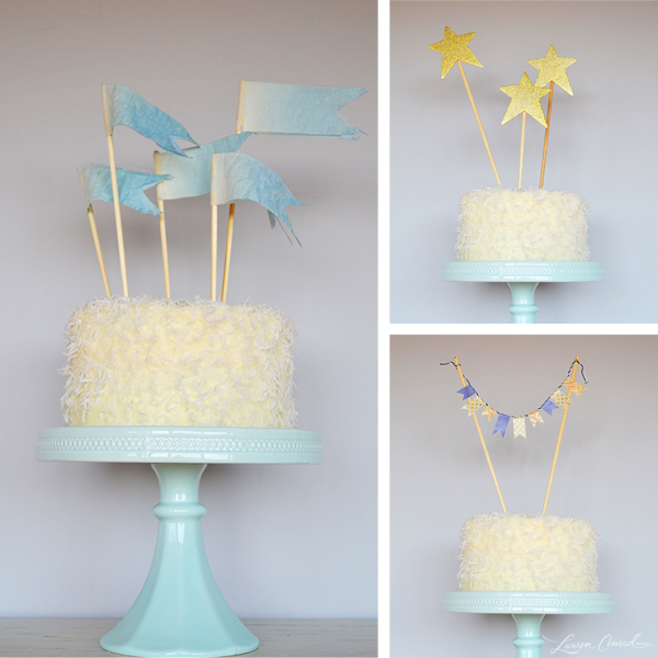 DIY Three Cute And Easy Cake Toppers