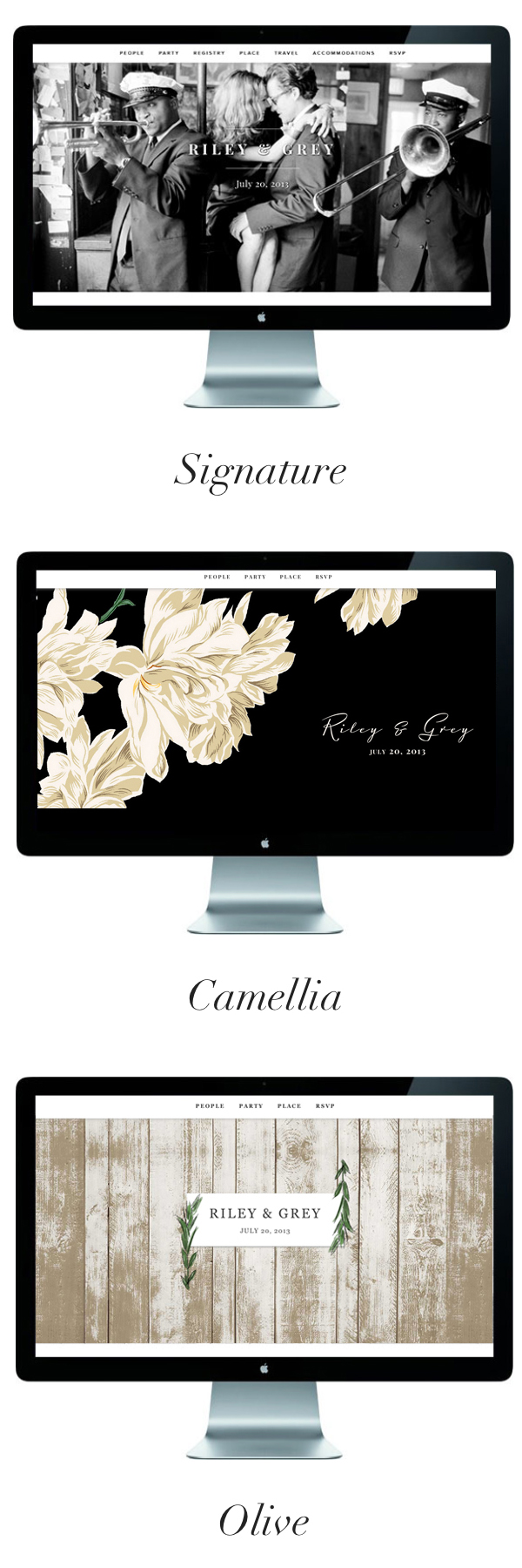 Favorite limited edition wedding websites