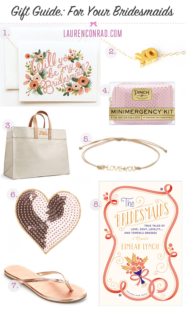 Gift Guide: For Your Bridesmaids