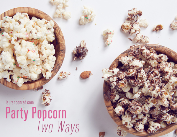 Edible Obsession: Party Popcorn Two Ways