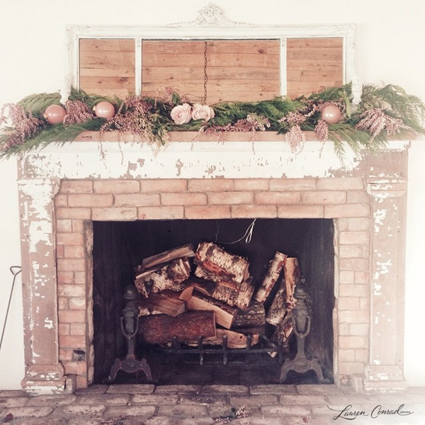pretty rustic fireplace