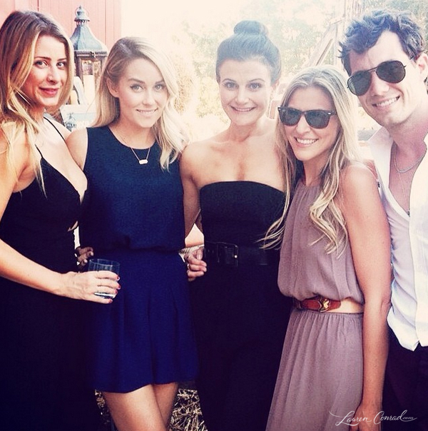 Lauren Conrad and friends at a wedding