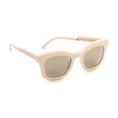 Stella McCartney Mirrored Thick Framed Sunglasses