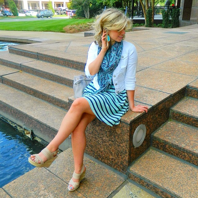 LC Lauren Conrad for Kohl's Striped Challis Dress