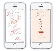 Yellow Heart Art for Lauren Conrad Fall Phone Paper On Phone
