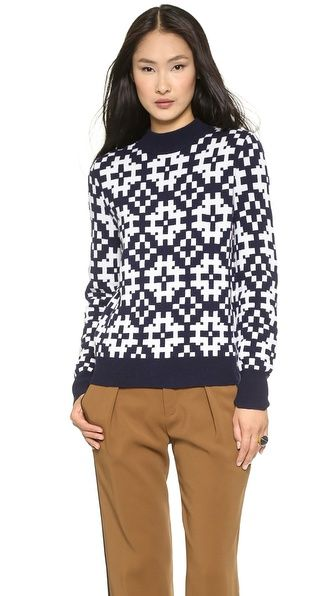 Equipment Tayden Mock Neck Sweater, $328