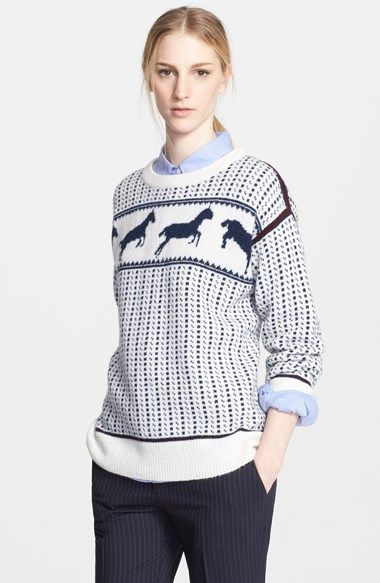 Band of Outsiders Fair Isle Horses Wool Blend Sweater, $475