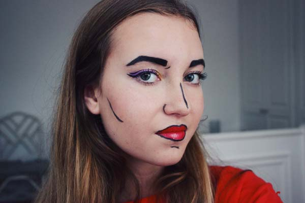 Halloween Pop Art Makeup Tutorial