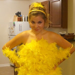 Halloween DIY: Paulina's Big Bird Costume