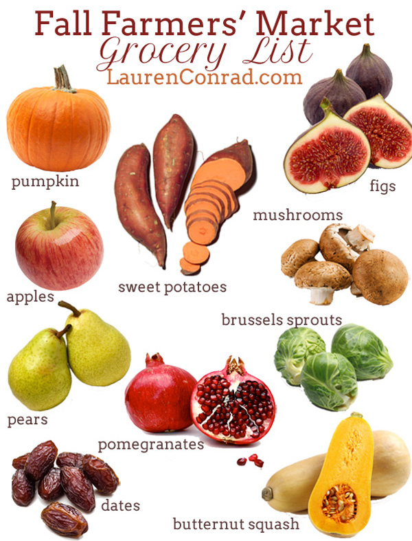 fruit list fall fruits