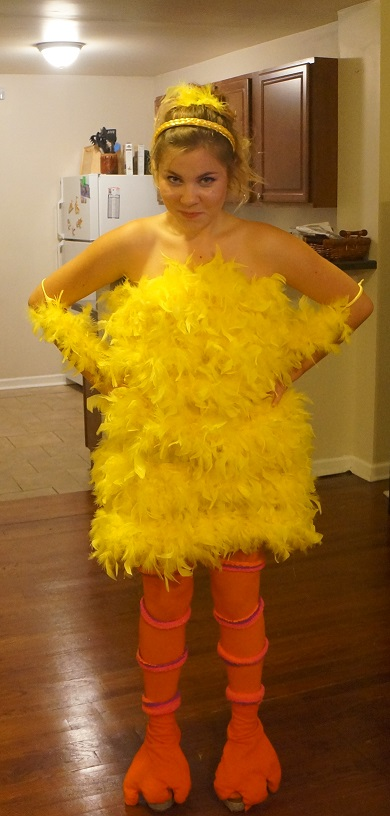 Halloween Diy Paulinas Big Bird Costume Lauren Conrad