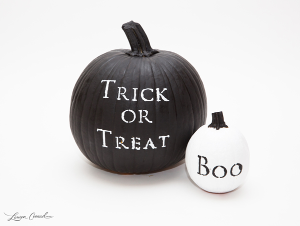 Tuesday ten creative pumpkin decorating ideas lauren conrad for Trick or treat pumpkin template